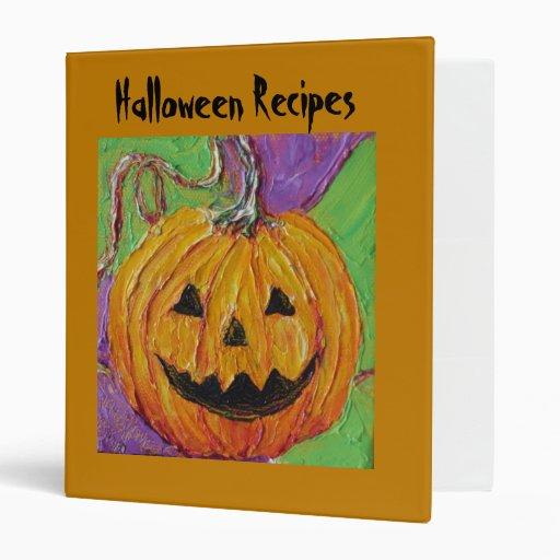 Jack-O-Lantern Halloween Recipes Binder