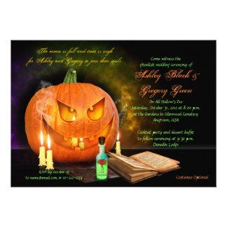 Jack O Lantern Halloween Wedding Invitation