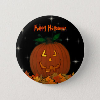 Jack-O-Lantern Happy Halloween Button