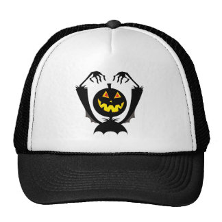 jack-o-lantern trucker hats