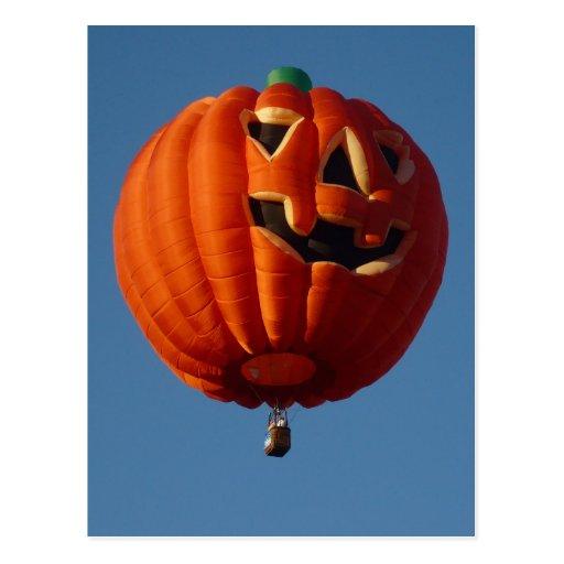 Jack-O-Lantern Hot Air Balloon Postcard