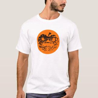 Jack-O-Lantern Icon Black on Orange T-Shirt