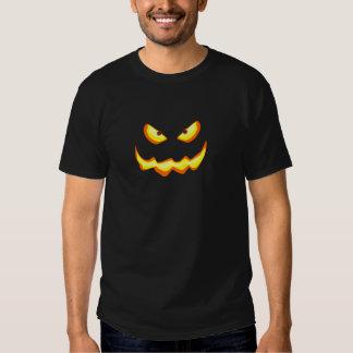 Jack-o'-lantern Illuminated Scary Face T Shirts