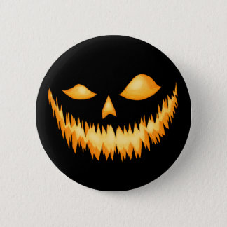 Jack O Lantern In The Dark With An Evil Grin 2 2 Inch Round Button