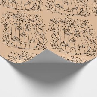Jack O Lantern Line Art Design