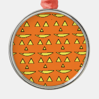 Jack-O Lantern Metal Ornament