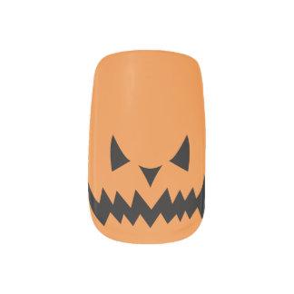 Jack-O-Lantern Orange Nail Art