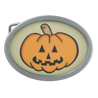 Jack O Lantern Oval Belt Buckles