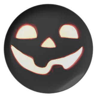 Jack-O lantern Plate