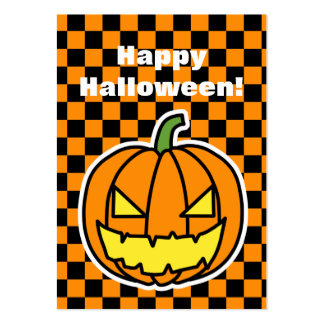 Jack-o'-lantern pocket calendar 2012 large business card