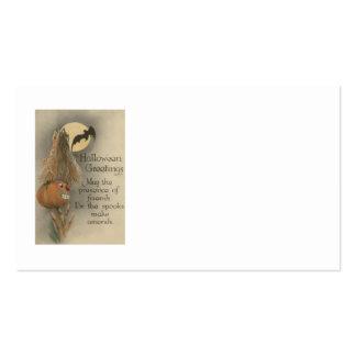 Jack O Lantern Pumpkin Bat Full Moon Business Card Templates