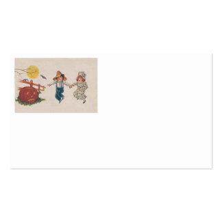 Jack O Lantern Pumpkin Bat Full Moon Children Business Card Template