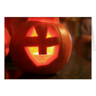 Jack-O-Lantern Pumpkin Card