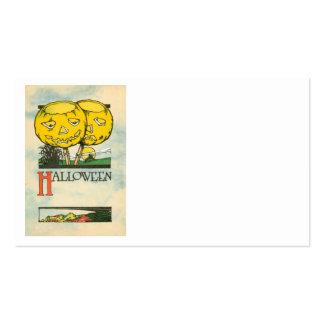 Jack O Lantern Pumpkin Full Moon Business Card