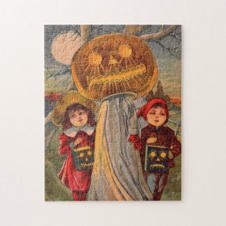Jack O' Lantern Pumpkin Ghost Children Costume Jigsaw Puzzle