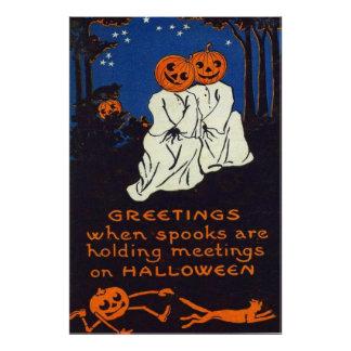 Jack O' Lantern Pumpkin Ghost Costume Cat Art Photo
