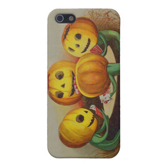Jack O' Lantern Pumpkin Playing Cards Poker iPhone 5 Cases