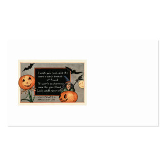 Jack O Lantern Pumpkin Witch Bat Owl Business Card Template