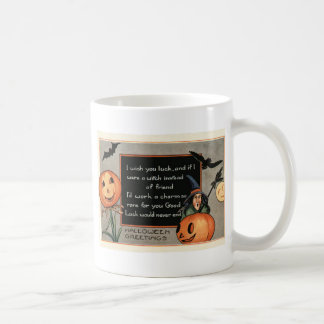 Jack O Lantern Pumpkin Witch Bat Owl Coffee Mug