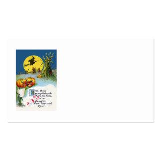 Jack O Lantern Pumpkin Witch Full Moon Haystack Business Card Templates