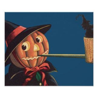 Jack O' Lantern Pumpkin Witch Pipe Photo