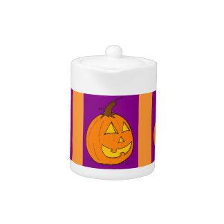 Jack o' Lantern Purple Teapot