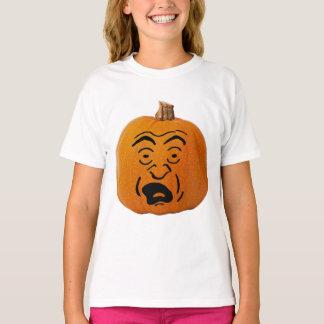 Jack o' Lantern Scared Face, Halloween Pumpkin T-Shirt