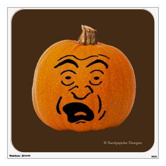 Jack o' Lantern Scared Face, Halloween Pumpkin Wall Decal