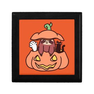 Jack O' Lantern Sloth Gift Box