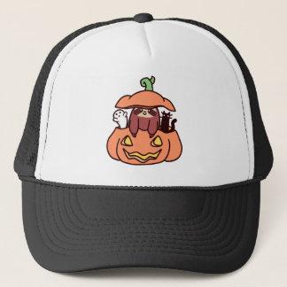 Jack O' Lantern Sloth Trucker Hat
