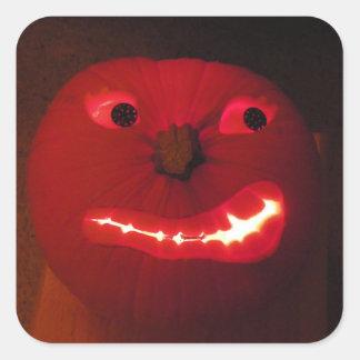 Jack-O-Lantern!!! Square Sticker
