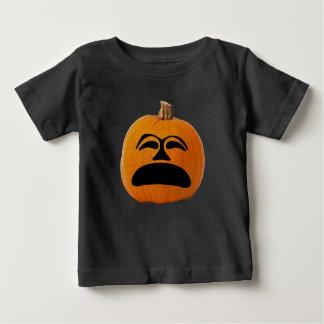 Jack o' Lantern Unhappy Face, Halloween Pumpkin Baby T-Shirt