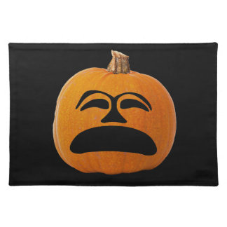 Jack o' Lantern Unhappy Face, Halloween Pumpkin Placemat