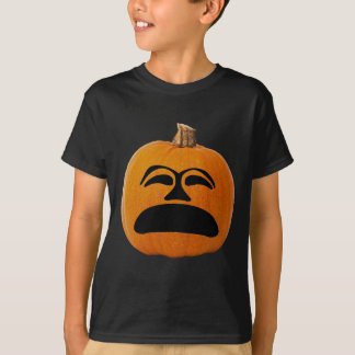Jack o' Lantern Unhappy Face, Halloween Pumpkin T-Shirt