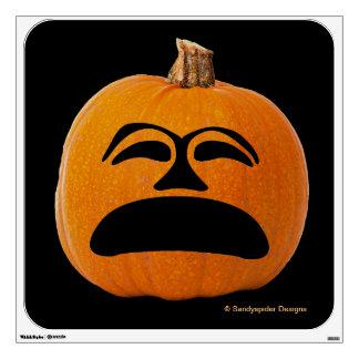 Jack o' Lantern Unhappy Face, Halloween Pumpkin Wall Decal
