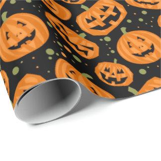 Jack-O-Lantern Wrapping Paper