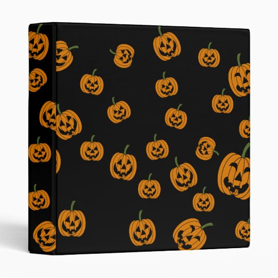 Jack O' Lanterns background Vinyl Binder