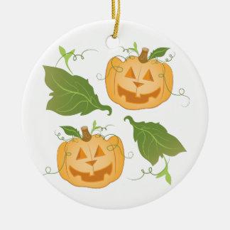 Jack O Lanterns Ceramic Ornament