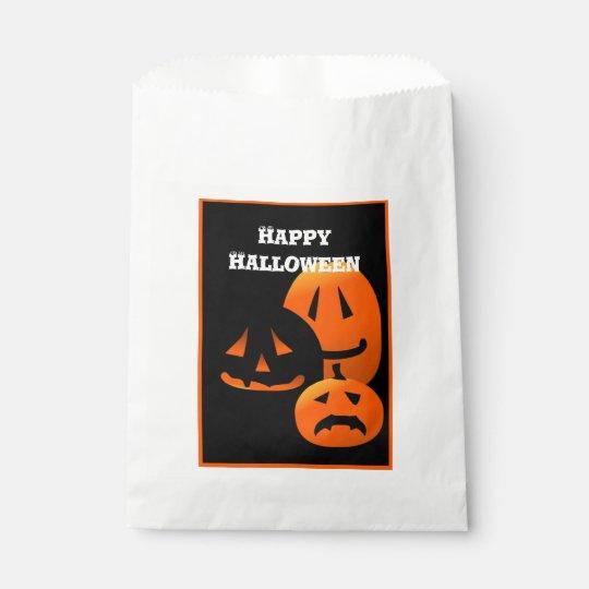 Jack-o-Lanterns Happy Halloween Party Favour Bag