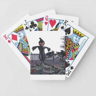 Jack O Scarecrow in a Pumpkin Patch Bicycle Playing Cards