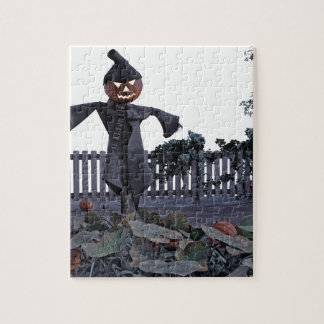 Jack O Scarecrow in a Pumpkin Patch Jigsaw Puzzle