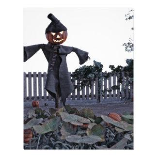 Jack O Scarecrow in a Pumpkin Patch Letterhead Template