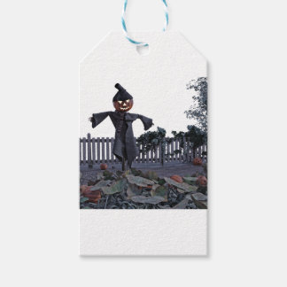 Jack O Scarecrow in a Pumpkin Patch Pack Of Gift Tags