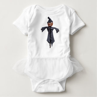 Jack O Scarecrow with Bright Eyes Baby Bodysuit