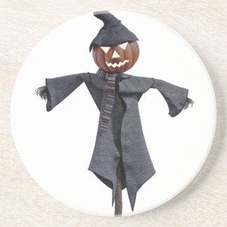 Jack O Scarecrow with Bright Eyes Beverage Coasters