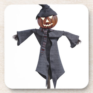 Jack O Scarecrow with Bright Eyes Drink Coasters