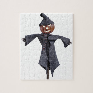 Jack O Scarecrow with Bright Eyes Jigsaw Puzzle