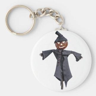 Jack O Scarecrow with Bright Eyes Keychain