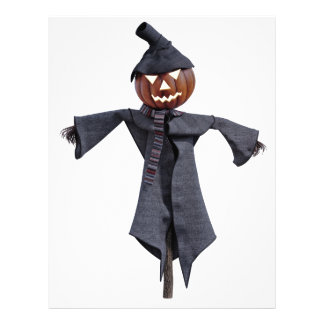 Jack O Scarecrow with Bright Eyes Letterhead