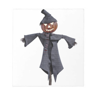 Jack O Scarecrow with Bright Eyes Notepad